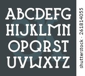 serif font bold in classic... | Shutterstock .eps vector #261814055