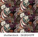 seamless ethnic pattern | Shutterstock .eps vector #261814199