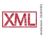 stamp text xml | Shutterstock .eps vector #261814301