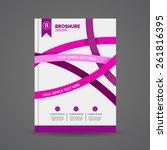 brochure design template for... | Shutterstock .eps vector #261816395