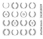 set of vintage design elements. | Shutterstock .eps vector #261818039