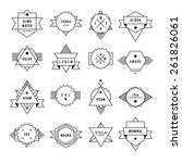 hipster primitive label. set...   Shutterstock .eps vector #261826061