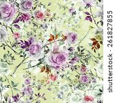 seamless pattern of beautiful...   Shutterstock . vector #261827855