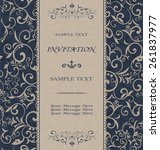 vintage invitation card with... | Shutterstock .eps vector #261837977