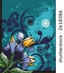 floral grunge background series.... | Shutterstock .eps vector #2618386