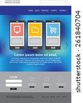 website design vector template | Shutterstock .eps vector #261840704
