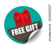 free gift vintage sticker and...   Shutterstock . vector #261842327