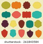 set of colorful blank labels...   Shutterstock .eps vector #261843584