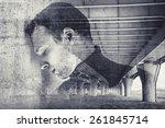 double exposure abstract... | Shutterstock . vector #261845714