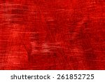 red scratch abstract background | Shutterstock . vector #261852725