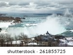 Niagara Falls In Winter Day
