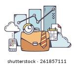 vector linear illustration of... | Shutterstock .eps vector #261857111