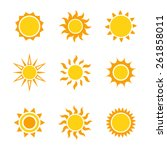 sun icon set  vector... | Shutterstock .eps vector #261858011