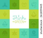 vector think green concept in... | Shutterstock .eps vector #261859445
