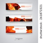 business design templates. set... | Shutterstock .eps vector #261872321