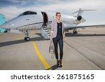 a executive business woman... | Shutterstock . vector #261875165