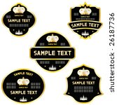 set of labels with a crown.   Shutterstock .eps vector #26187736