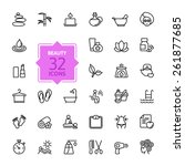 Outline web icon set  - Spa & Beauty | Shutterstock vector #261877685