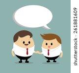 vector of businessman shaking... | Shutterstock .eps vector #261881609
