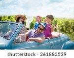 a lovely family is going on... | Shutterstock . vector #261882539