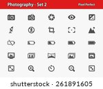photography icons. professional ... | Shutterstock .eps vector #261891605