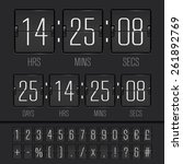 white countdown timer and... | Shutterstock .eps vector #261892769