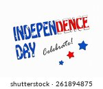 independence day | Shutterstock . vector #261894875