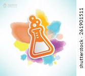 science design water colour... | Shutterstock .eps vector #261901511