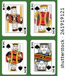 four kings of spades in four... | Shutterstock .eps vector #261919121