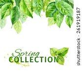vector illustration of spring... | Shutterstock .eps vector #261919187