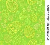 easter egg. vector seamless... | Shutterstock .eps vector #261923801
