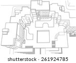architectural sketch of... | Shutterstock .eps vector #261924785