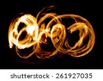 flaming trails  amazing fire... | Shutterstock . vector #261927035
