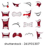 comic mouth set  illustration... | Shutterstock .eps vector #261931307