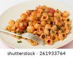 gomiti elbow pasta shells... | Shutterstock . vector #261933764