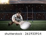 Rugby Player In A White Uniform ...