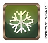 square button snow on the white ... | Shutterstock .eps vector #261937127