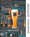 beer infographic background ... | Shutterstock .eps vector #261941264