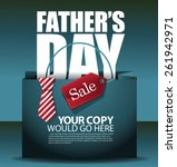 fathers day sale shopping bag... | Shutterstock .eps vector #261942971