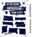 various of grunge spray... | Shutterstock .eps vector #261948641