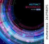 retro technology circle... | Shutterstock .eps vector #261958091