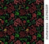 floral vintage flower seamless... | Shutterstock .eps vector #261960209
