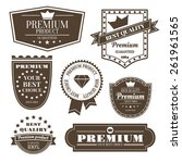 vintage set of premium signs ... | Shutterstock .eps vector #261961565