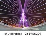 Night View Of Modern Bridge...