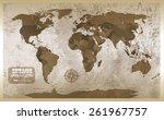 grunge map background.... | Shutterstock . vector #261967757