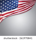 american flag on grey background | Shutterstock . vector #261970841