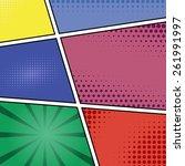 comics pop art style blank... | Shutterstock . vector #261991997