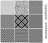 set of 8 abstract geometric... | Shutterstock .eps vector #261993551