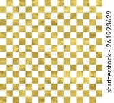 white and gold  pattern.... | Shutterstock .eps vector #261993629