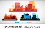 set of cityscape backgrounds | Shutterstock .eps vector #261997121